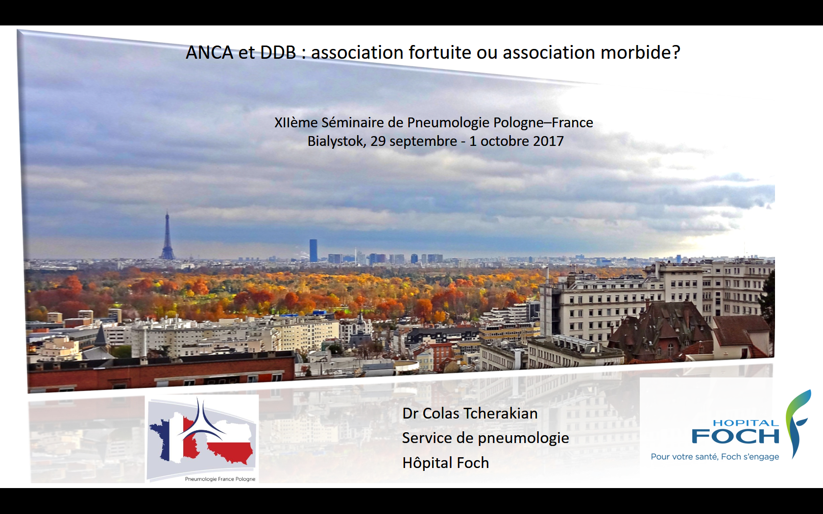 ANCA et DDB  association fortuite ou association morbide. Colas Tcherakian