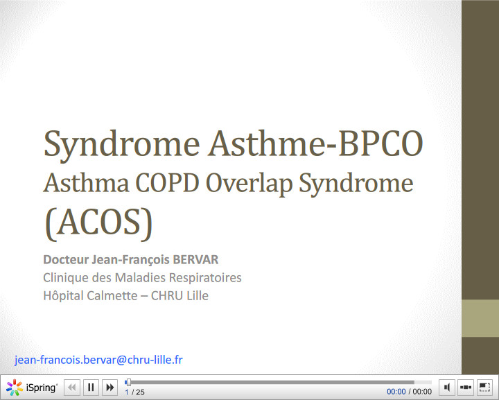 Syndrome Asthme-BPCO (ACOS). JF Bervar