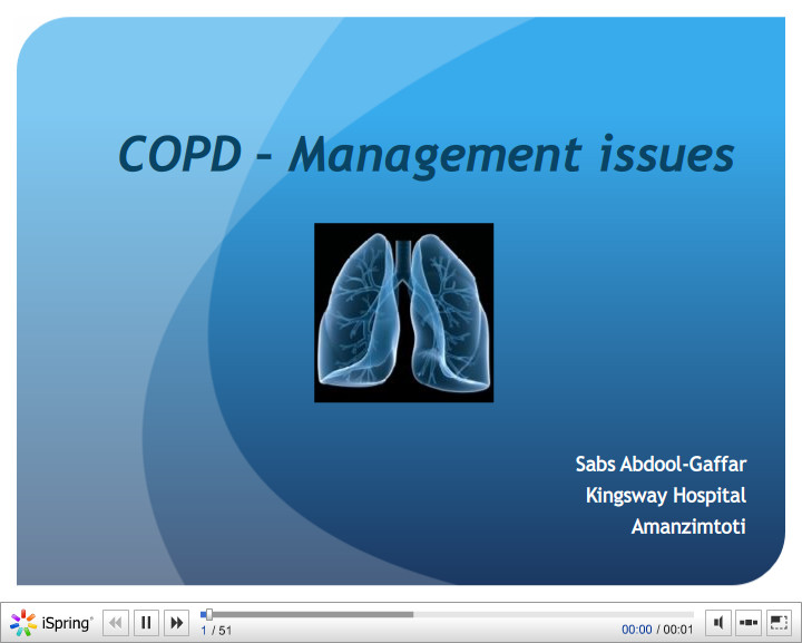 COPD Management issues. Sabs Abdool-Gaffar